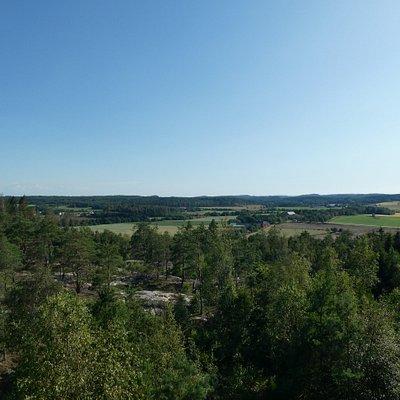 Utsikt från Rastplats Världsarv Tanum i Tanumshede