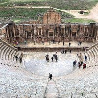 South Theatre, Jerash Ruins, Jerash Jordan