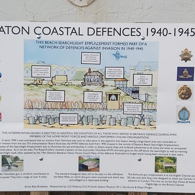 Information about the sea defences and Searchlight Emplacement