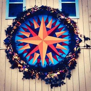 Mariner's Compass Barn Quilt