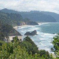 il panorama sulla costa