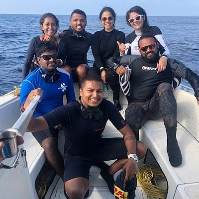 Happy faces after an eventful dive :)