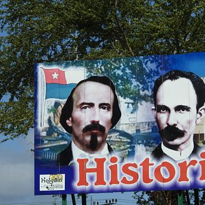 This billboard was in a park in Holquin, Cuba