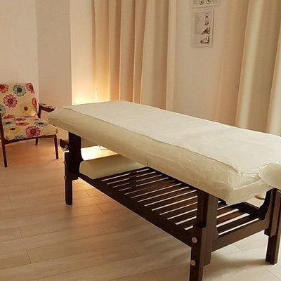 Amrita massage room.