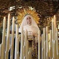 Virgen de las Aguas bajo palio.