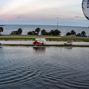 Many great locations to choose from in the Space Coast, from flat water to waves.  Come join us!