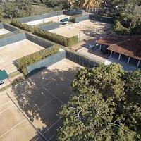 Vista del club desde dron