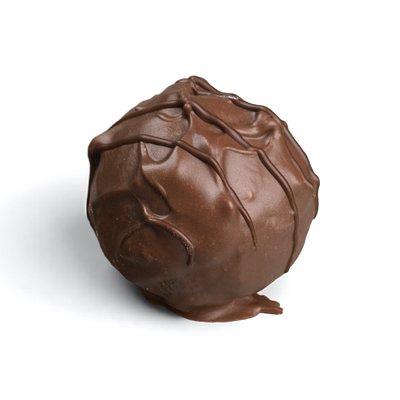 Handmade milk chocolate truffle