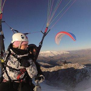 Winter Tandem Paragliding over Coronet Peak, Queenstown