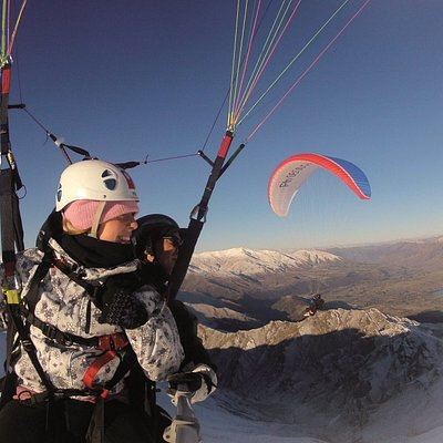 Winter Tandem Paragliding over Coronet Peak, Queenstown