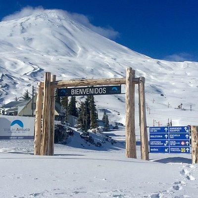 Portal de acceso a Centro de ski volcán Antuco