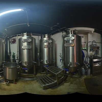 Brew room Yambak Sayulita Craft brewery. 360-degree panorama. Drink beer!