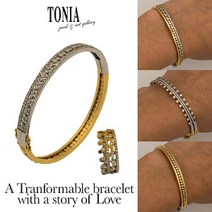 Tranformable jewellery 18kt with a story telling