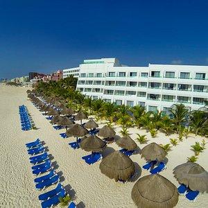 Vista panoramica de playa