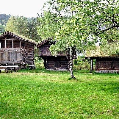 Old houses at Fyresdal bygdemuseum.