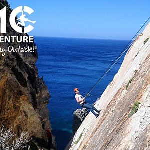 Abseiling with amazing view!