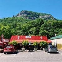 Village Scoop serves ice cream in the heart of Chimney Rock Village