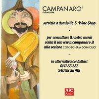Dal 17 Aprile 2020 Tutte le informazioni sul nostro sito www.campanaro.it