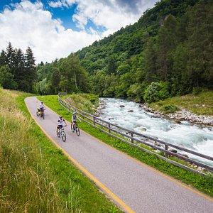 pista ciclabile della Val di Sole in Trentino