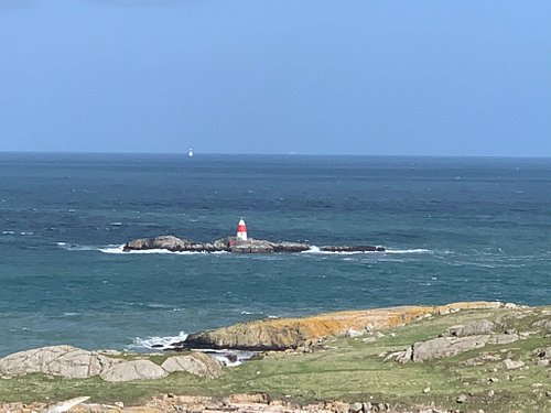This Lighthouse sits about 300 meters off the back of Dalkey Island. Great piece of history and attractive - you access by the water and lots of birds on the small rocks around it. Recommended!