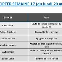 10€00 par personne à emporter Réservation la veille avant 11h