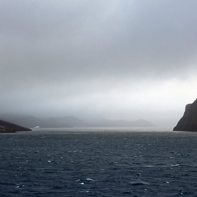 Entrance to Whaler's Bay on Deception Island.