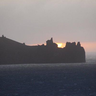 Sunset at Deception Island.