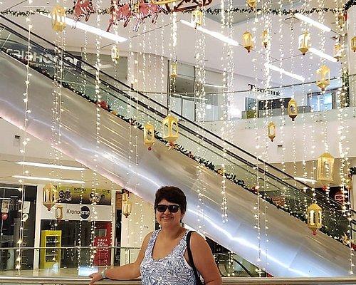 Bellos adornos navideños adornaron el centro comercial