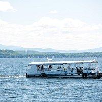 The Bike Ferry carrying passengers on Lake Champlain