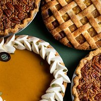 Thanksgiving Pumpkin, Apple, and Pecan Pies
