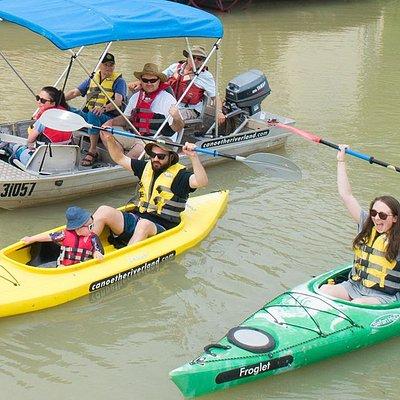 Kayak Hire & Dinghy Cruises through the Murray River, creeks & lagoons,.