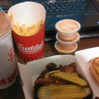 Combo upsized missing ample fries and short poured malt