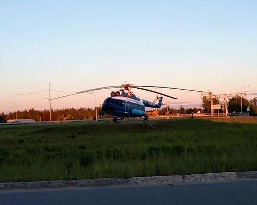 Памятник Вертолёт МИ-8, Югорск.
