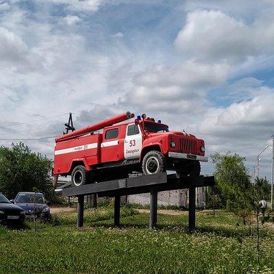 Пожарный автомобиль Газ-53, Североуральск.