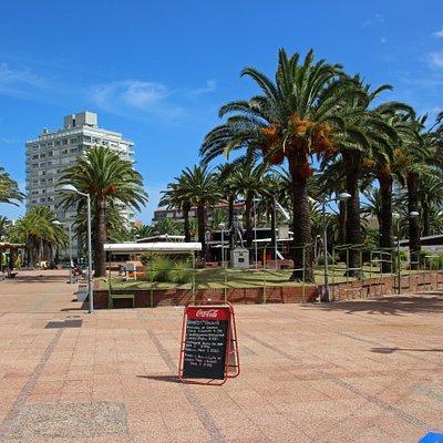 Plaza on the street.