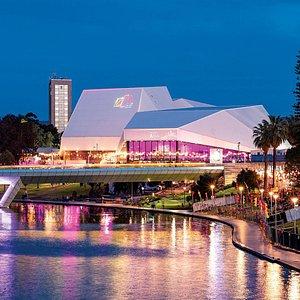 Adelaide Festival Centre overlooks Elder Park and the River Torrens