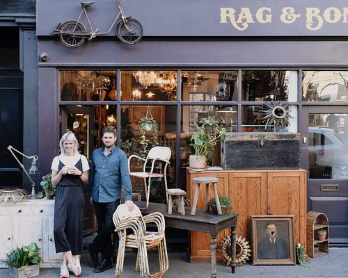Co-owners Mollie & Arthur Outside the Shop