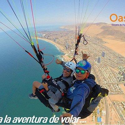 Vuela Parapente en Iquique , Sobre dunas y Océano