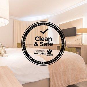 COVID-19 Certificado CLEAN & SAFE pelo Turismo de Portugal.