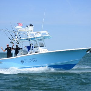 SusanC will her new Tuna / Cobia Tower cruising off the Oceanfront.