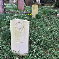 6.  Commonwealth War Graves, The Church of Mary the Virgin, Lamberhurst, Kent;  the grave of Private A J Bailey with, in the background, the grave of Private W H Cook