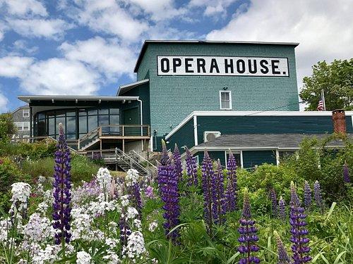 The Stonington Opera House in summer.