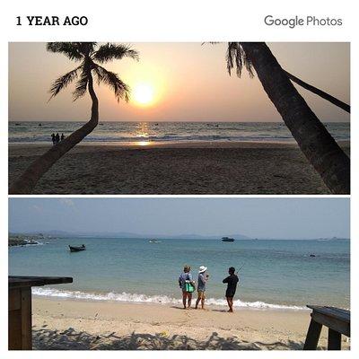 Paradise beach. Last year.