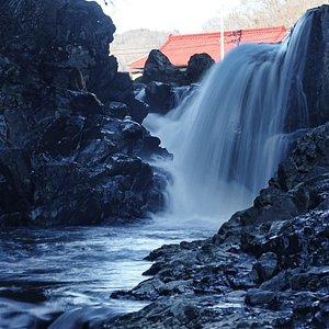 馬門の滝:複雑な滝なので部分撮影も面白いですね