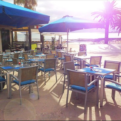 Our Relaxing Outdoor Seating Area with Direct Access to the Beach