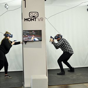 Virtual reality video game arcades, the MontVR entertainment centres offer incredible experiences for all ages. Boasting 7 locations across the province of Quebec, MontVR is sure to bring you, your family and your friends the thrill of a lifetime:  - Over 30 game   - Multiplayer mode - A completely immersive experience  Come experience the fun of virtual reality at one of our MontVR centres!