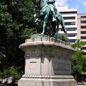 McPherson Square - Bordered by 15th Street NW (it splits) on Both Sides, and I and K Streets North and South, Washington, DC - A Square in Tribute to Major General James B. McPherson - Right at the McPherson Metro Station