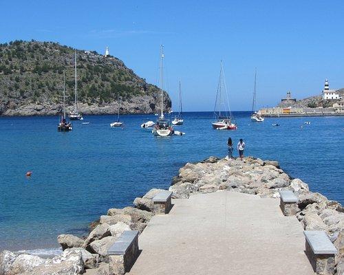 The bay entrance for Port Soller, Majorca.