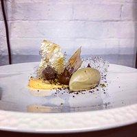 Chocolate, pistachio, passion fruit Part of a 6 course taster menu