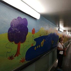 murales nel tunnel
